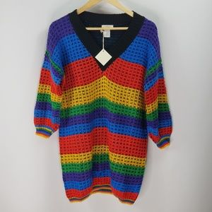 Sweaters - Multicolored V-Neck Sweater NWT